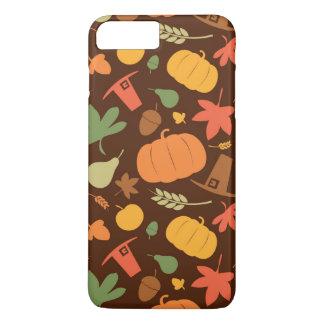 Autumn seamless background, Thanksgiving day. iPhone 8 Plus/7 Plus Case