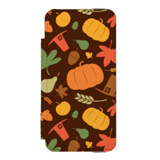 Autumn seamless background, Thanksgiving day. Wallet Case For iPhone SE/5/5s