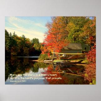 Autumn Seaplane Christian Photography Poster