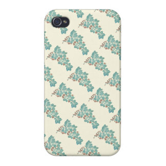Autumn Season Botanical Ivy and Berries Pattern Cover For iPhone 4