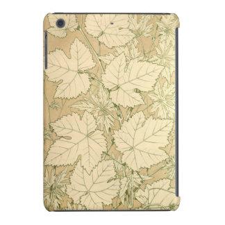 Autumn Season Maple Falling Leaves Tan iPad Mini Cover