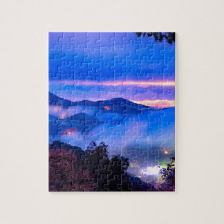 autumn season morning on blue ridge parkway mounta jigsaw puzzle