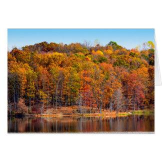Autumn seasonal greetings card
