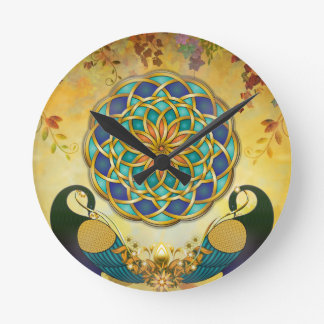 Autumn Serenade-Dawn Version Round Clock