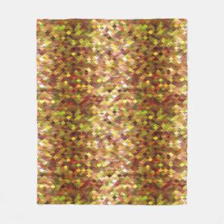 Autumn Shades Abstract Harlequin Fleece Blanket