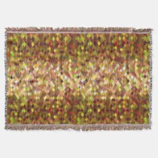 Autumn Shades Abstract Harlequin Pattern Blanket Throw