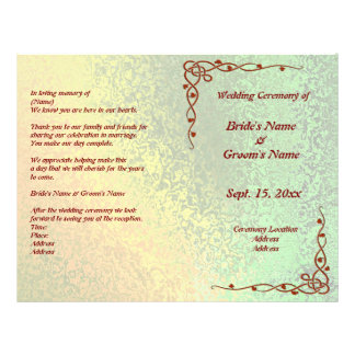 Autumn Shades of Green and Yellow Wedding Flyer