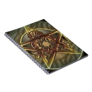 Autumn Shades Pentacle Spiral Notebooks