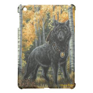Autumn Shadow Black Wolf iPad Case