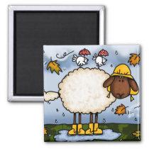 autumn sheep magnet
