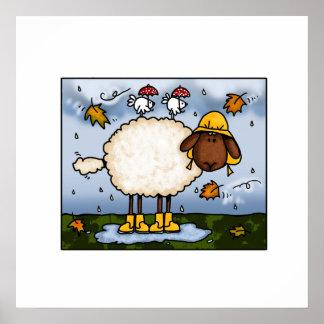 autumn sheep poster
