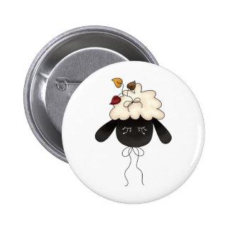 Autumn Sheep · Sheep & Autumn Leaves Pinback Buttons