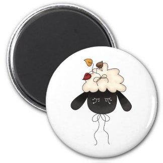 Autumn Sheep · Sheep & Autumn Leaves Magnet