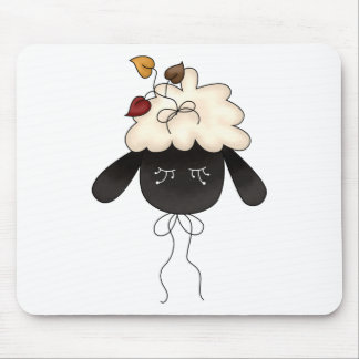 Autumn Sheep · Sheep & Autumn Leaves Mousepad
