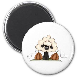 Autumn Sheep · Sheep & Pumpkins Fridge Magnet