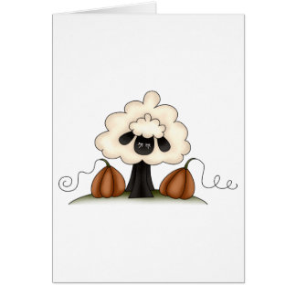 Autumn Sheep · Sheep & Pumpkins Greeting Cards