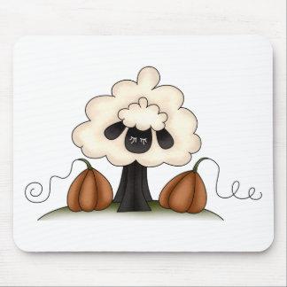 Autumn Sheep · Sheep & Pumpkins Mousepads