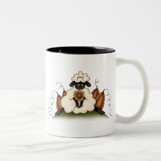 Autumn Sheep · Sheep, Sunflower & Pumpkins Coffee Mugs