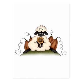 Autumn Sheep · Sheep, Sunflower & Pumpkins Post Card