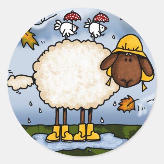 autumn sheep stickers
