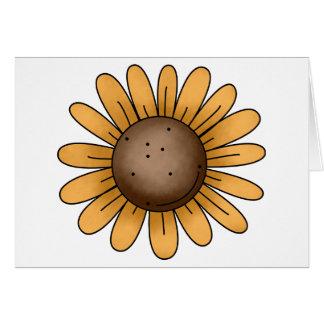 Autumn Sheep · Sunflower Greeting Card