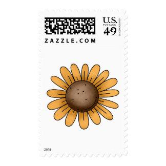 Autumn Sheep · Sunflower Postage Stamp