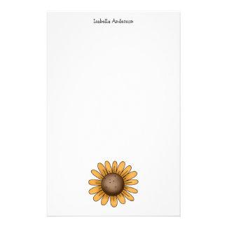 Autumn Sheep · Sunflower Stationery Paper