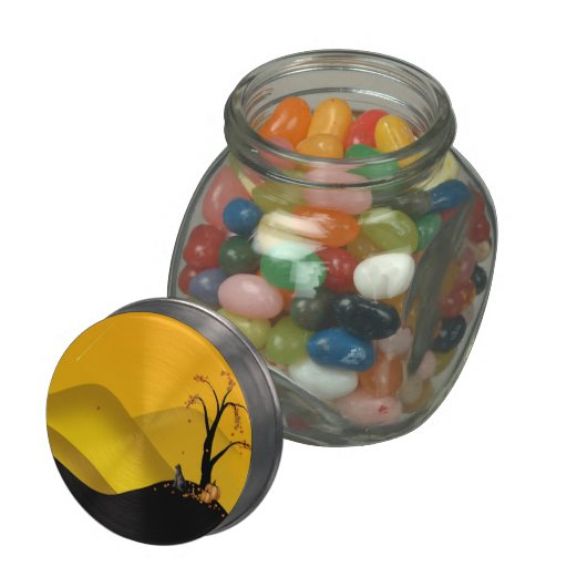 Autumn shooting star fantasy jellybean jar or tins glass jar