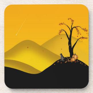 Autumn shooting star fantasy tree coaster
