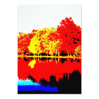 "Autumn Simplified 5"" X 7"" Invitation Card"