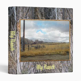 Autumn Skies Over Gold Fields 3 Ring Binders