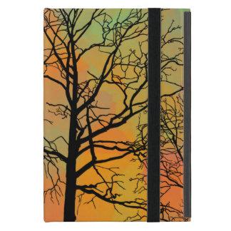 Autumn Skies Tree Silhouette Art Cases For iPad Mini