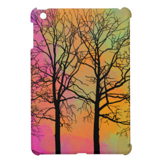 Autumn Skies Tree Silhouette Art Cover For The iPad Mini