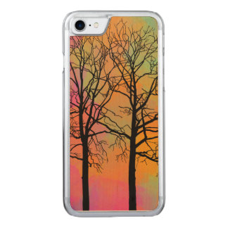 Autumn Skies Tree Silhouette Carved iPhone 7 Case