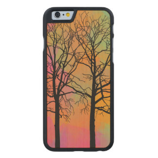 Autumn Skies Tree Silhouette Carved® Maple iPhone 6 Slim Case