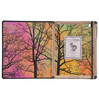 Autumn Skies Tree Silhouette iPad Covers