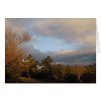 Autumn Sky After Storm in Templeton, CA Card