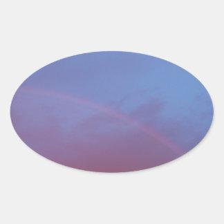 Autumn Sky Oval Sticker