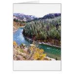 Autumn Snake River Greeting Card