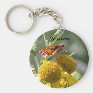 Autumn Sneezeweed, Jessica Basic Round Button Keychain