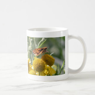 Autumn Sneezeweed with Butterfly Friend Coffee Mug