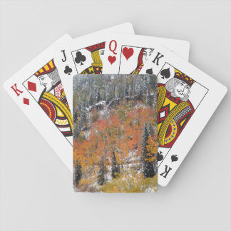 Autumn Snow Playing Cards