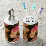 Autumn Soap Dispenser & Toothbrush Holder