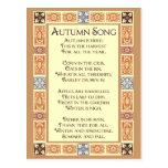 Autumn Song Thanksgiving Poem Postcard