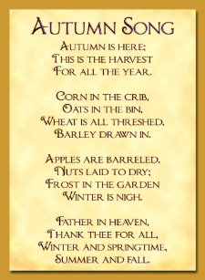 autumn song poem