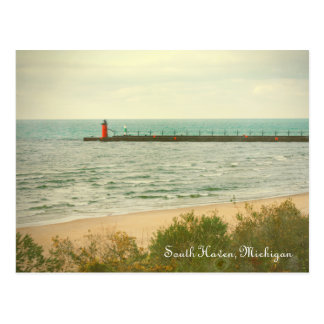 Autumn South Haven Michigan Lighthouse Postcard