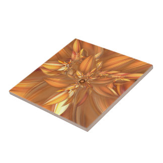 Autumn Spice Ceramic Tile Small Square Tile
