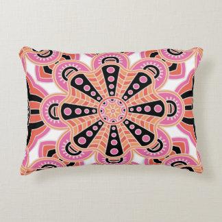 Autumn Spice Mandala- Boho Flower Bust Accent Pillow