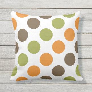 Autumn Spice Polka Dots Pillow