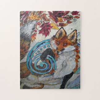 Autumn Spiral Fox Jigsaw Puzzle